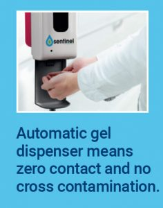 Automatic gel dispenser means zero contact and no cross contamination