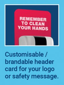 Customisable brandable header card for your logo or safety message